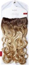 Balmain Clip-In 60 cm. Complete Hairextensions Memory®hair, kleur L.A., midden-donkerblonde en lichtbruine tinten.
