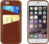 muvit iPhone 6 / 6S Leatherette Back Case with 2 Cardslots Brown