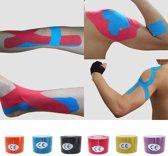 Sporttape Kinesiotape - Elastische Kinesiology (Knie) Medical Tape - 5 meter x 2,5 cm Blauw
