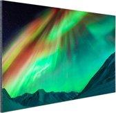 Gigantisch noorderlicht in Alaska Aluminium 60x40 cm - Foto print op Aluminium (metaal wanddecoratie)
