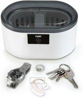 Fysic FC-22 Ultrasoon reiniger | Grondige ultrasoon reiniger met automatische stop| Wit / Grijs