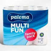 Paloma Multy Fun Family Keukenpapier - 3 laags keukenrol - 8 x 6 rollen