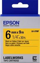 Epson Pastel Tape - LK-2YBP Pastel Blk/Yell 6/9