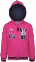 Minnie Mouse sweater met rits roze 128