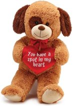 Pluchen puppy 'You have a spot in my heart'