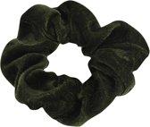 Lucardi Diversen  - Velvet scrunchie donker groen