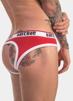 BARCODE BERLIN BACKLESS MAXIME BRIEF RED / WHITE