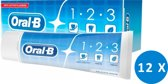 Oral-B tandpasta - 1.2.3 Delicate White - 12 x 75ml - voordeelverpakking