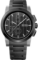 Hugo Boss HB1513089 Horloge - Rubber - Zwart - 45 mm