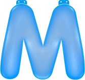 Opblaas letter M blauw