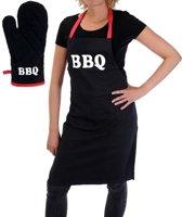 Barbecueschort met Handschoen