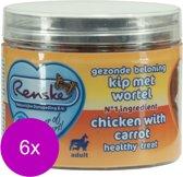Renske Gezonde Beloning Hartjes 100 g - Hondensnacks - 6 x Kip&Wortel