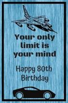 Your Only Limit Is Your Mind Happy 80th Birthday