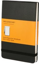 Moleskine Reporter Notebook - Pocket - Ruled - Hard Cover - Black