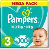 Pampers Baby-Dry Luiers - Maat 3 - 100 stuks