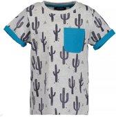 Blue Seven Jongens T-shirt - grijs melee - Maat 116