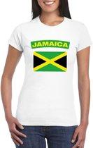 T-shirt met Jamaicaanse vlag wit dames M