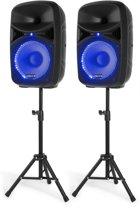 Geluidsinstallatie - Vonyx VPS102A Bluetooth geluidsinstallatie 600W met standaards voor beginnende DJ of zanger(es)