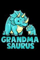 Grandma Saurus: Grandma Saurus Dinosaur Funny Grandmasaurus For Nana Journal/Notebook Blank Lined Ruled 6X9 100 Pages