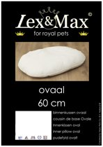 Lex & max basic binnenkussen ovaal  60cm