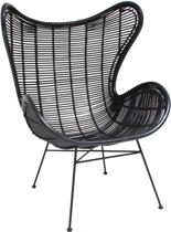 Hk Living Egg Chair.Bol Com Hkliving Rotan Eggchair Salon Met Arm Zwart