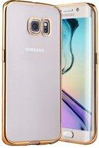 Samsung S7 Hoesje TPU Ultradun Kleur Goud + Autolader