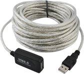 Actieve USB 2.0 Verlengkabel - USB-A Male Naar USB Female 10M - 10 Meter