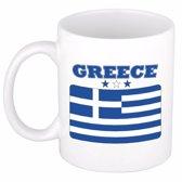 Beker / mok met de Griekse vlag - 300 ml keramiek - Griekenland