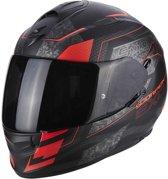 Scorpion Integraalhelm EXO-510 Galva Matt Black/Neon Red-L