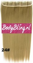 Clip in hair extensions 1 baan straight blond - 24#