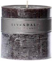 Riverdale Pillar - Geurkaars - Donkergrijs - 10x10 cm