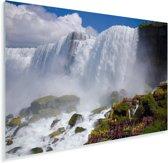 Rotsformaties voor de Niagarawatervallen Plexiglas 60x40 cm - Foto print op Glas (Plexiglas wanddecoratie)