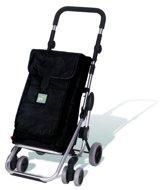 Playmarket Boodschappentrolley Go Up Zwart 4 wielen - 39,5 L inhoud - Vriesvak