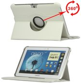 360 Graden Draaibaar Stand Case Galaxy Note 10.1 N8000 Wit