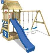 Wickey Smart Shelter Blauw - Speeltoestel met houten dak