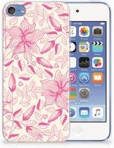 Apple iPod Touch 5 | 6 Uniek TPU Hoesje Pink Flowers