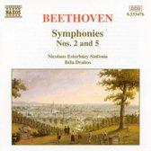 Beethoven: Symphonies 2 & 5 / Drahos, Esterhazy Sinfonia