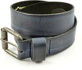 Kidzzbelts Jongens Jeans kinderriem 1685 - Blauw - 65 cm