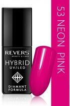 REVERS® Hybrid Nail Polish UV/LED 6ml. #53 Neon Pink