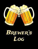Brewer's Log: Beer Brewer Log Notebook