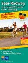 Radwanderkarte Saar-Radweg und französische Kanäle, Konz - Strasbourg 1 : 50 000