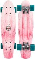 """Nijdam Plastic Pennyboard Splash Dye 22.5"""" - Flipgrip-board - Roze/Petrol"""