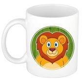 1x Leeuwen beker / mok - 300 ml - leeuw dieren bekers voor kinderen