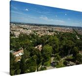 Uitzicht over de Franse stad Nîmes Canvas 30x20 cm - klein - Foto print op Canvas schilderij (Wanddecoratie woonkamer / slaapkamer) / Europese steden Canvas Schilderijen