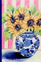 ''Sunshine in Blue and White'' by Jennifer Moreman: Joyful 120 Page Bullet Grid 6x9'' Journal by Artist
