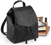 Senvi mini Rugzak-Backpack Kleur Zwart (Leather-look)