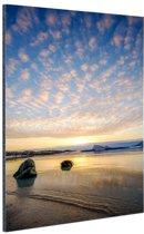 FotoCadeau.nl - Zonsondergang op het strand Aluminium 40x60 cm - Foto print op Aluminium (metaal wanddecoratie)