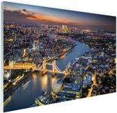 De skyline van London Glas 60x40 cm - Foto print op Glas (Plexiglas wanddecoratie)