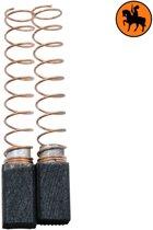 Koolborstelset voor AEG Boor 349138 - 6,35x6,35x11,5mm - Vervangt 012510