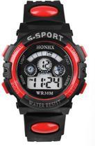 HONIX S-Sport - Horloge - Kunststof - 37 mm - Zwart/Rood